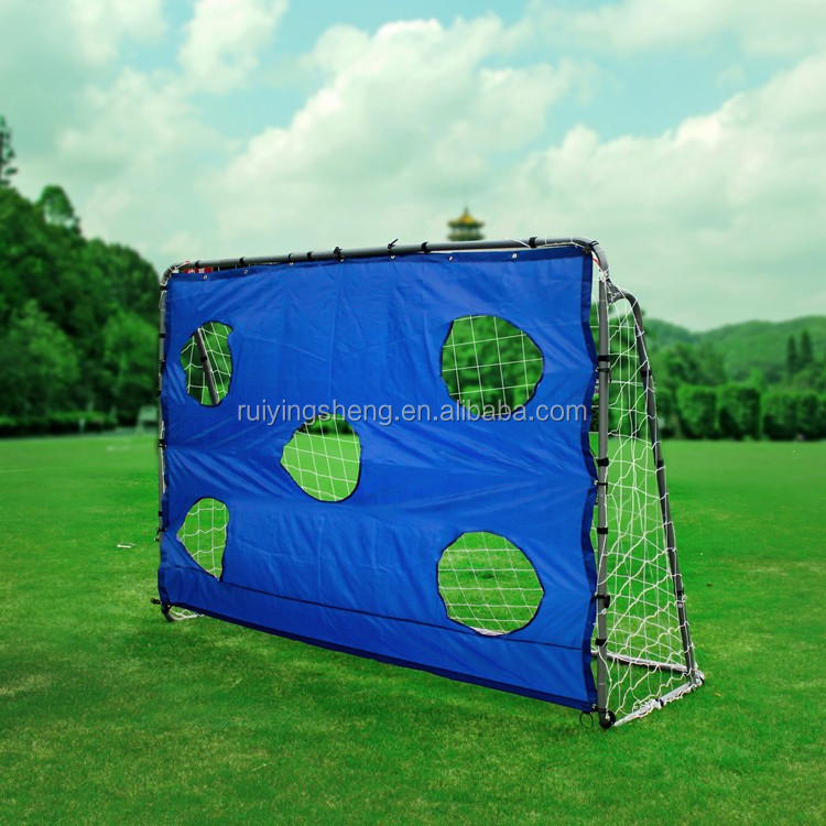 Metal soccer Goal with target shot for training