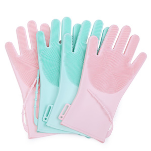 Buy Cleaning Products Kitchen Accessories Waterproof Washing Silicone Gloves Brush For Kitchen