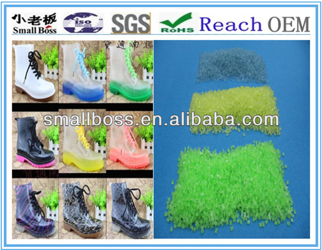 colorful PVC compounds pvc compound for rain boots, pvc granules for boots