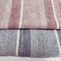 cotton/linen yarn dyed stripe woven fabric