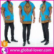 2016 new design wholesale short sleeve african dashiki polo shirts for men