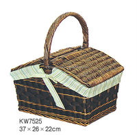 wicker picnic basket,picnic basket