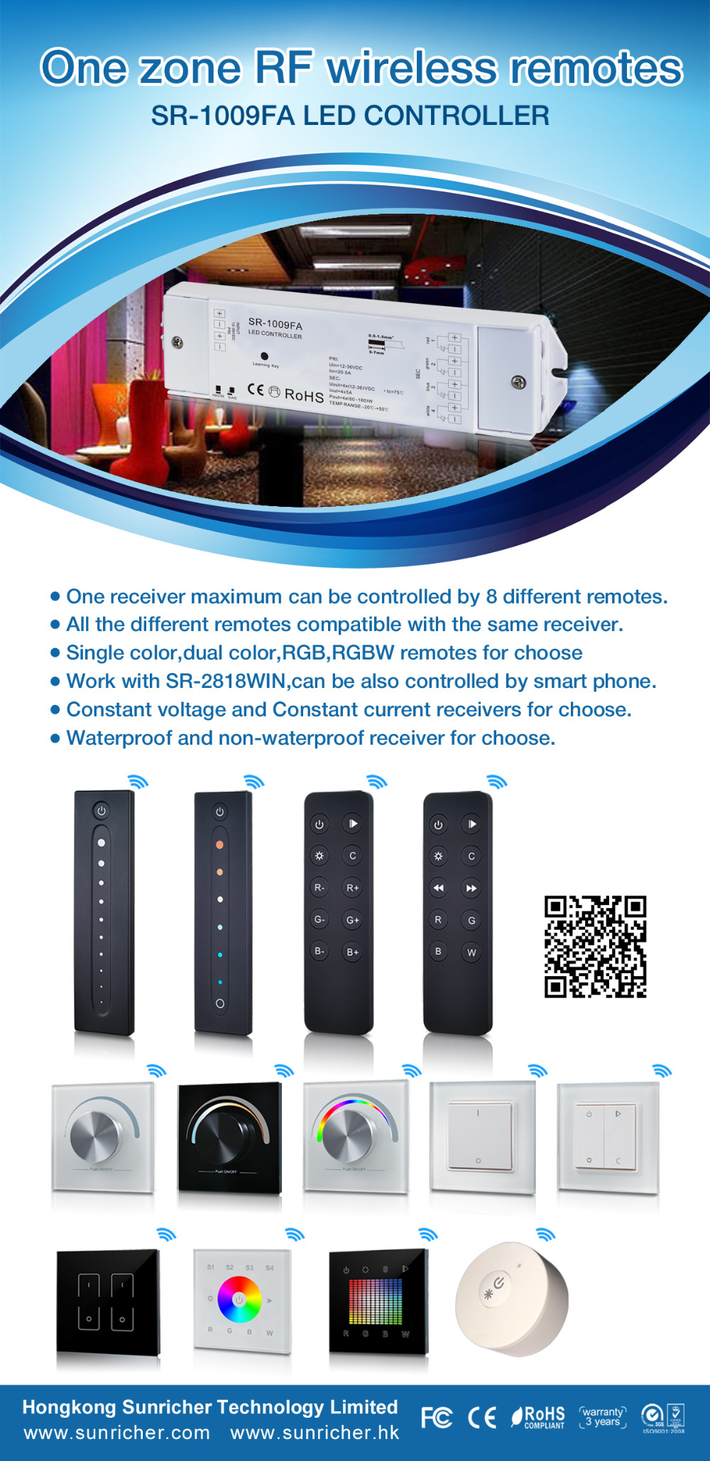 SR KNX/ZIGBEE WIFI RF DMX HIGH FREQUENCY CONTOLLER Dimmer