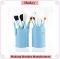 HAOKEY professional facial makeup brushes 12pcs blue brush set with package