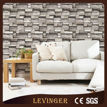Levinger 3d wood brick wallpaper 2016 newest art pvc wallpaper rolls