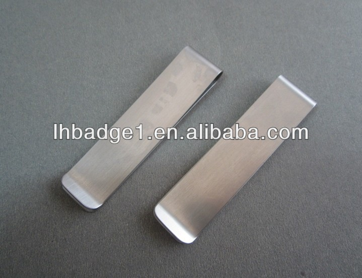 Stainless Steel Money Clip/Promotional Personalized Bookmarks