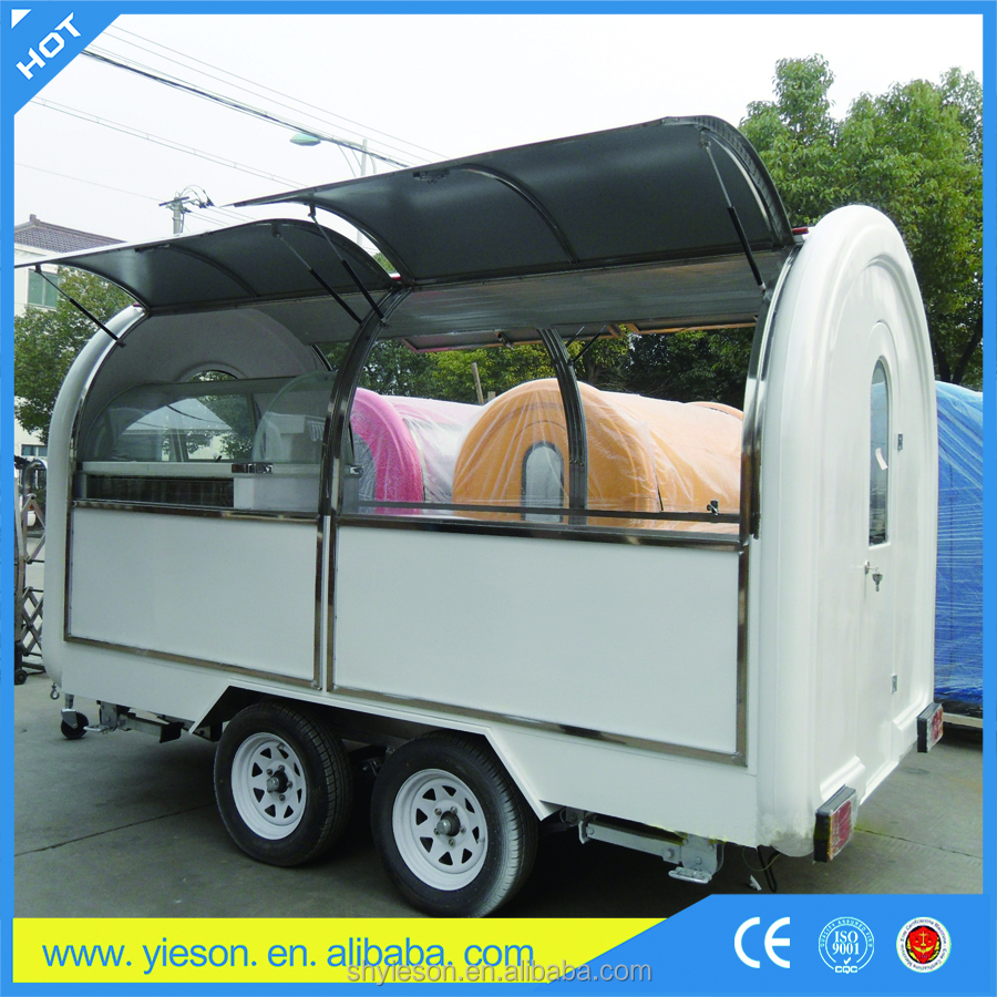 outdoor kiosk with folding food cart /chinese manufacturer electric food truck for food service / fast food vehicle outside