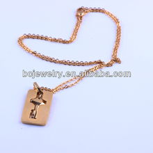 2014 fashion statement necklace jewelry gold cross stainless steel necklace