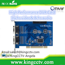 H.264 16ch High Performace Software Compression DVR Card:HK-6216S