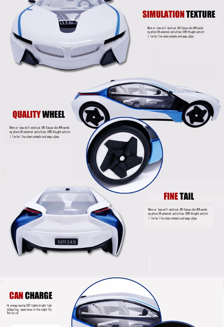 4 Channel rc car electric with battery