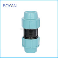 China Wholesale Light Blue PN16 Plastic Pipe Fitting For Irrigation Quick Shaft Hydraulic coupling