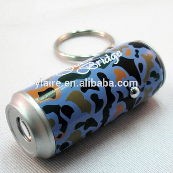 LED tin shape projection keychain,logo projection keychain for promotional