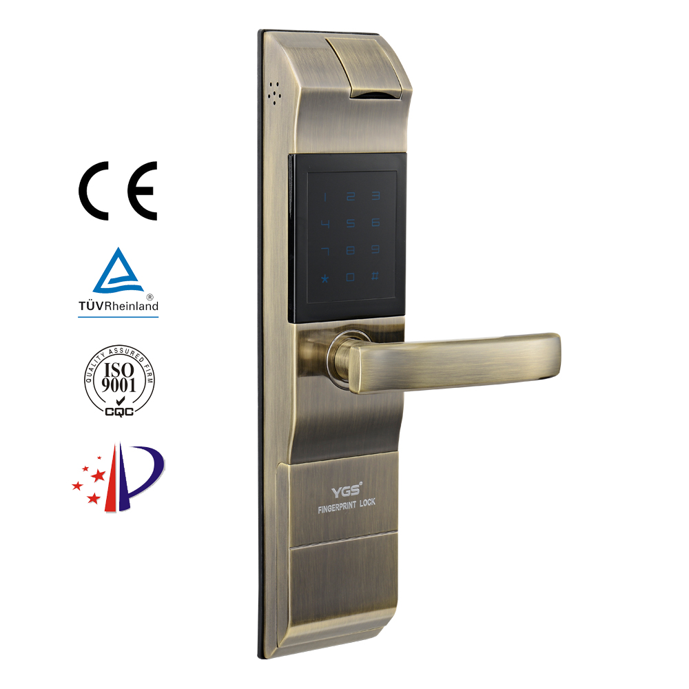 Mechanical gate middle mortise door lock