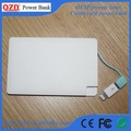 Built-in cable and adaptor slim card small power bank