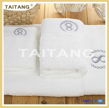 2017 good quality cheap price 100% cotton embroider 16s terry towel set
