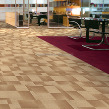 PVC Backing Bank Carpet Tiles Nylon Striped Commercial Carpet Tiles