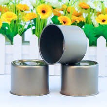 Empty tuna tin cans with easy open end