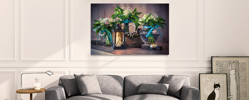 Light up canvas paintings wall art for home decoration