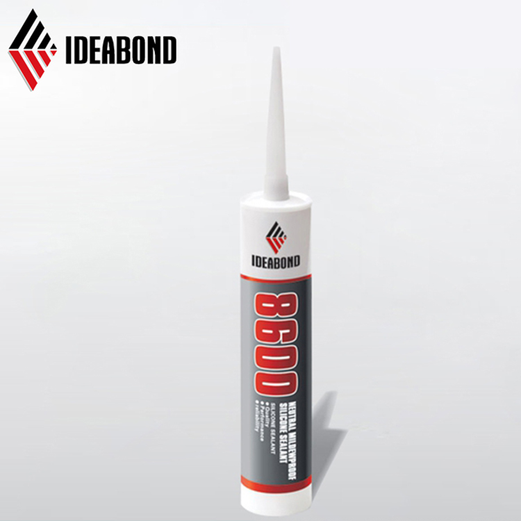 Neutral White/Black Color Silicone Anti Mildew Silicone Sealant with Refillable Cartridges Nozzles for Bath Shower Kitchen
