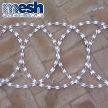 China Supplier low price concertina razor barbed wire/hot dipped galvanized razor wire