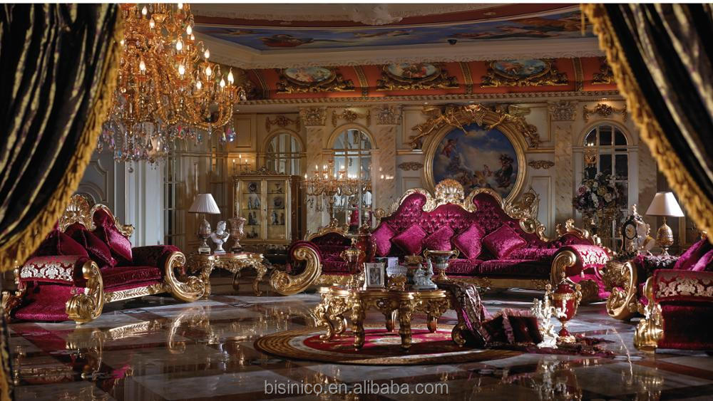 Bisini Brand Luxury Hand Made Grand Hall Sofa Furniture, European Royal Delicate Wood Carved Sectional Couch