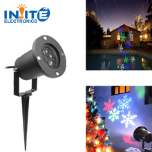 LED RGBW Christmas Outdoor projector light For Party Holiday Christmas 4 colors 4 patterns