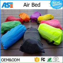 2017 new arrival portable inflatable air lounger kids sleeping bag with pillow