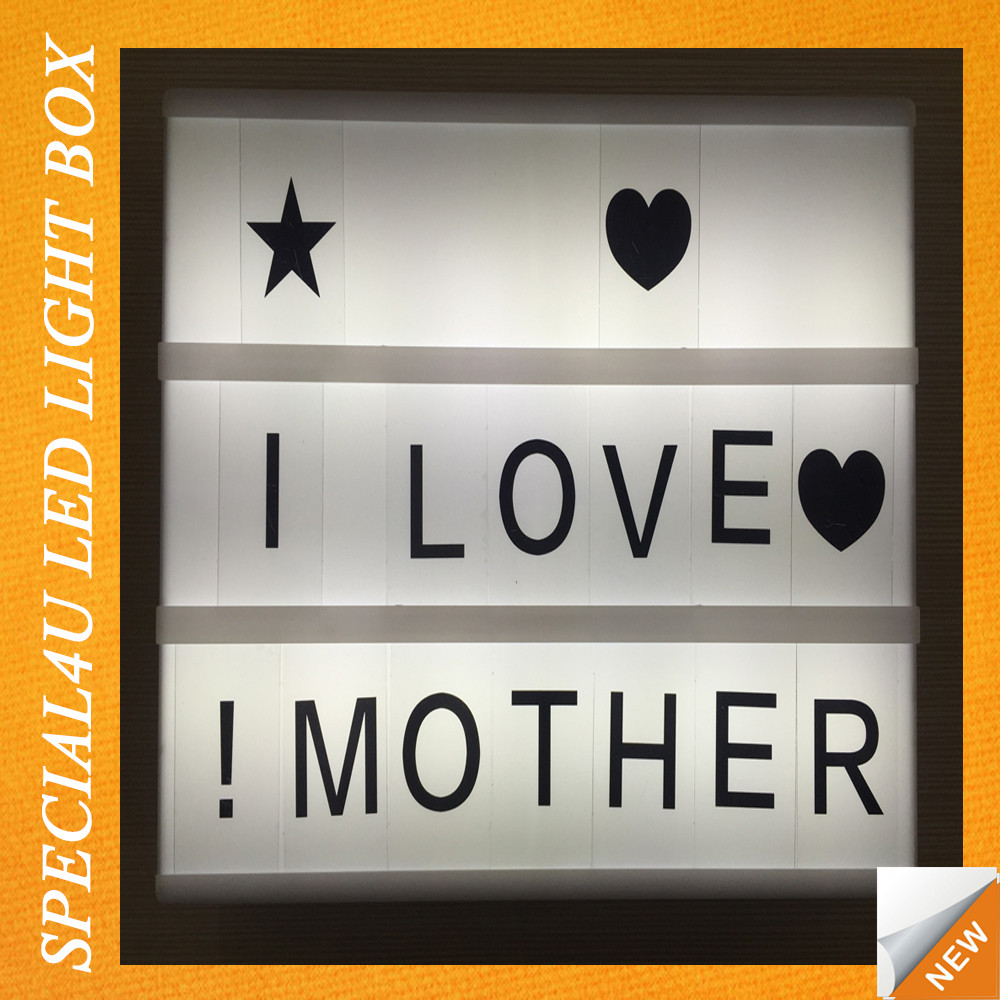 free combination letters lamp box/plastic light box/small led light box SPLB-009