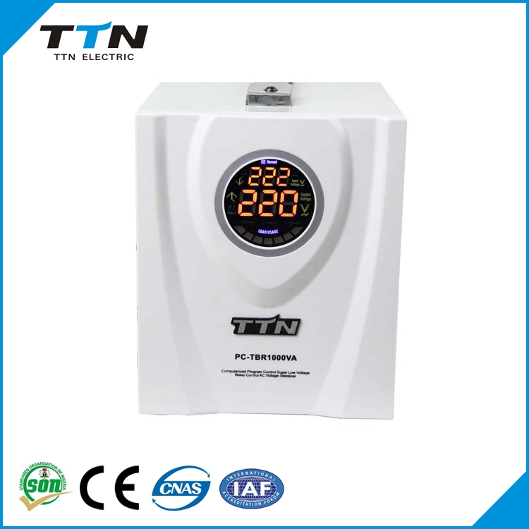 PC-TBR China Supplier TTN avr 500va relay control ac automatic voltage stabilizer circuit diagram / power voltage regulator