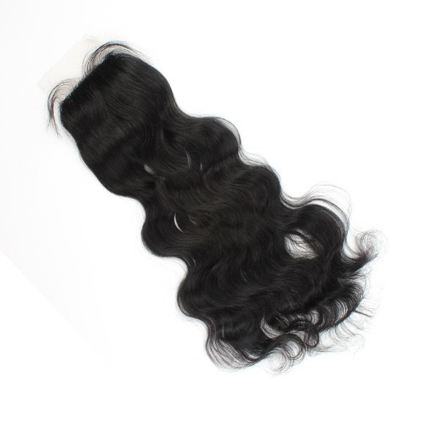 virgin remy human hair silk base closure,natural color body wave 12''~20'' wholesale price