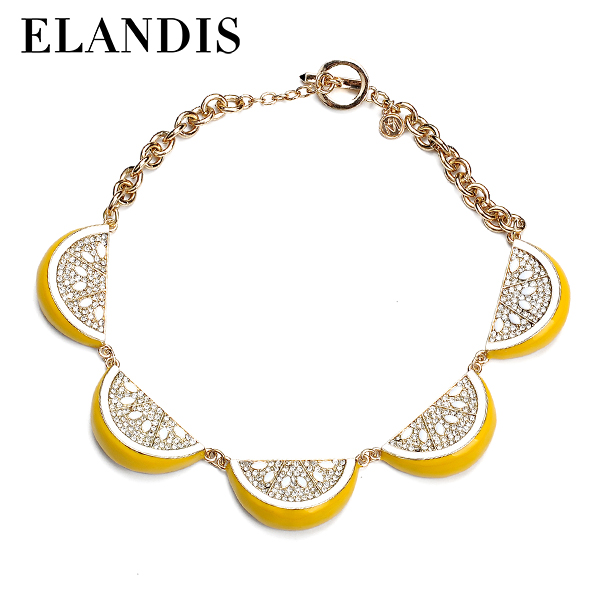 E-ELANDIS The Lasted Design Alloy Metal Enamel Necklace Fashion Jewellery NL10322