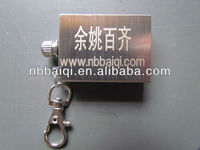 sell no.002 stainless steel million times match,laser printing