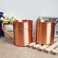 Amazon hot selling 100% moscow pure copper mug with heart shape handle/customize logo pure copper coffee mug