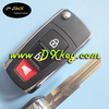 Hot sale 2+1 button flip car key shell for proton proton flip key car key proton