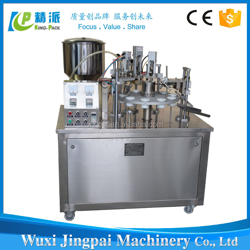 high quality semi automatic squeeze tube filling machine