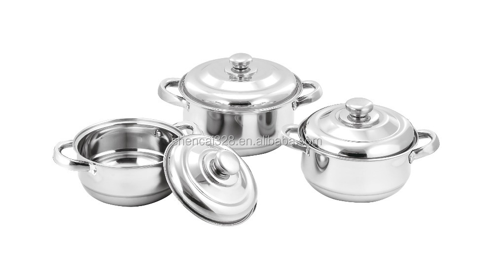 New Product 2016 Stainless Steel Cooking Pot / Cookware set / Soup Pot