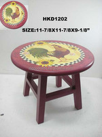 Wooden Vintage Round Mini Stool Childs Step Stool