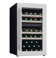 42 bottle free standing dual zone compressor wine cooler