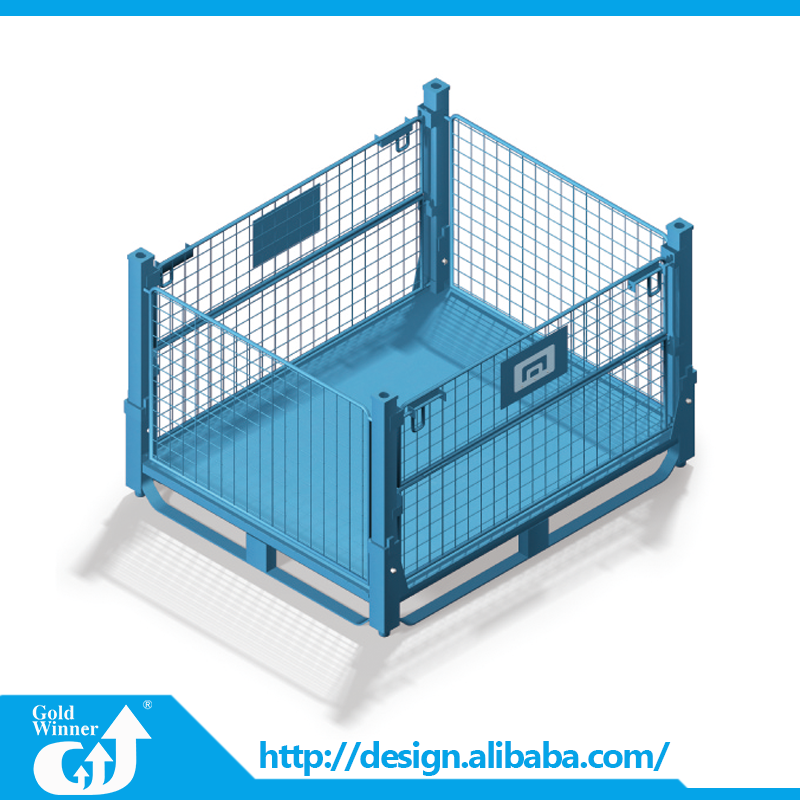 Wholesale Foldable Stackable Storage Wire Pallet Cage For Warehouse