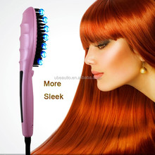 private label hair straightener electric hair straightening brush as seen on tv