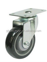 PU wheels 5 inch swivel single ball bearing caster wheels,removable industrial caster wheels for furniture,dolly,hand cart
