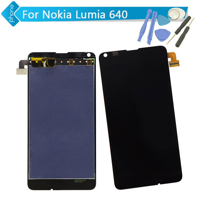 For Nokia Lumia 640 LCD Screen Display Touch Digitizer Assembly with Microsoft logo + Tools