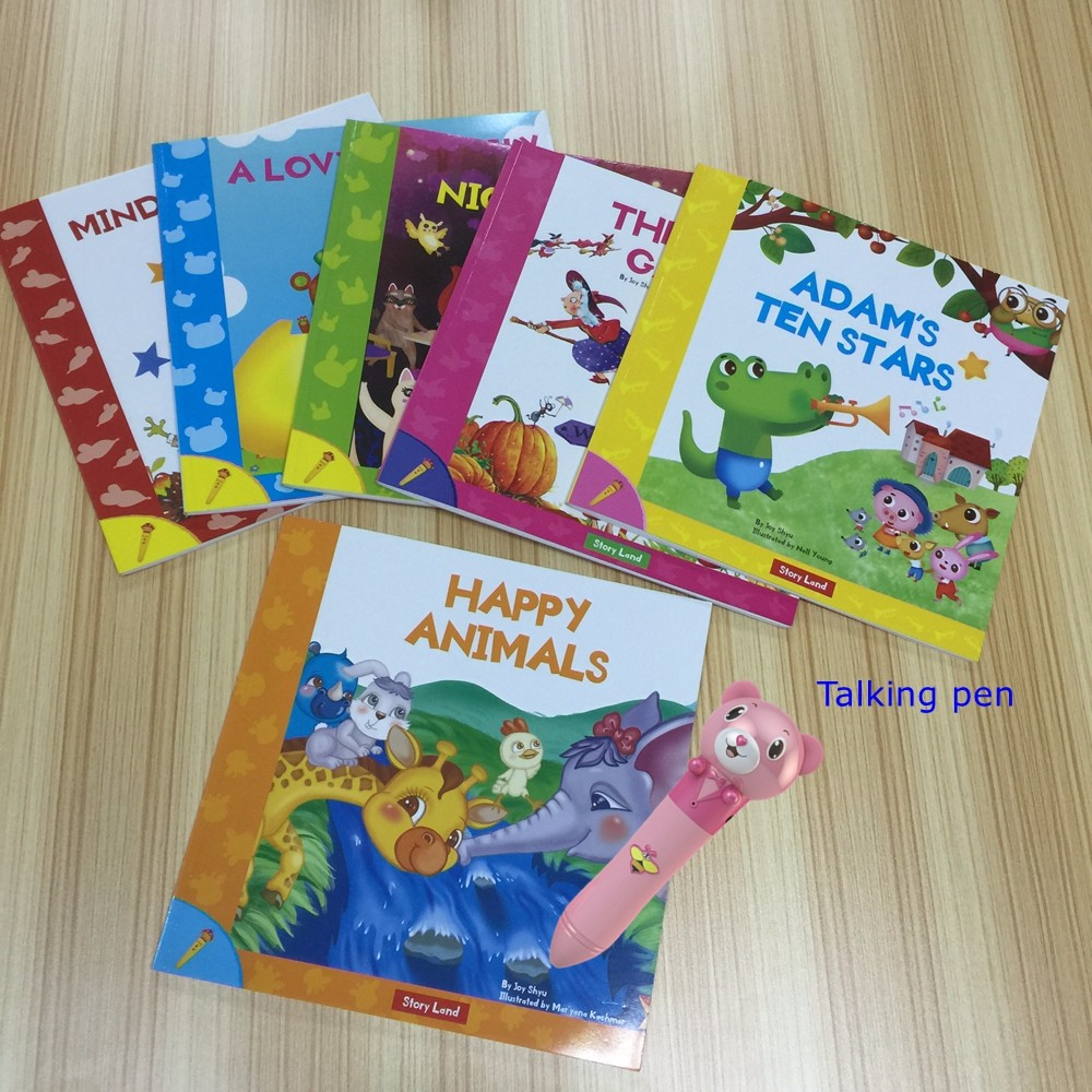 New Products Recording Pen and English Book Storyland for Kids Talking English Vegetable Names