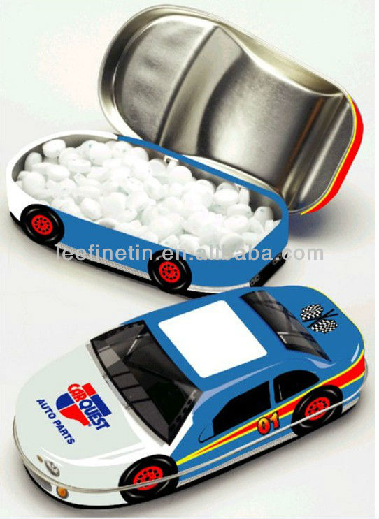cute car shaped hinged mints tin