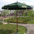 9' round wood outside printing parasol