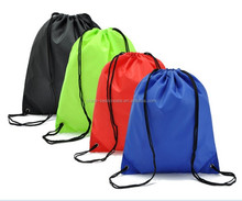 Customization Multi colors and sizes Cinch Pouches drawstring 210D polyester backpack bags