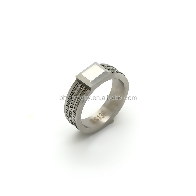 China Supplier Wholesale Fashion Men Stainless Steel Ring Gay Men Ring