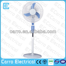 2014 dc air cooler motor fan CE-12V16E AC/DC rechargeable fan small rechargeable fans with LED light