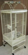 New 22x22x60 inches Play-Top Egg Shell White Wrought Iron Bird Cage