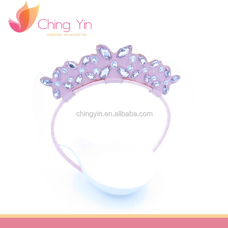 Princess Rhinestones Tiara Headband Hair Band Alice band Hair Accessories for Girls